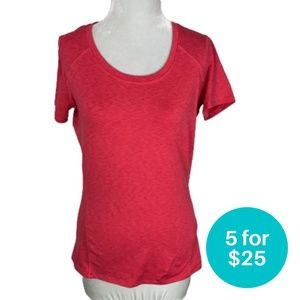 5/$25 - Hyba Athletic T-Shirt Crew Neck Pink S
